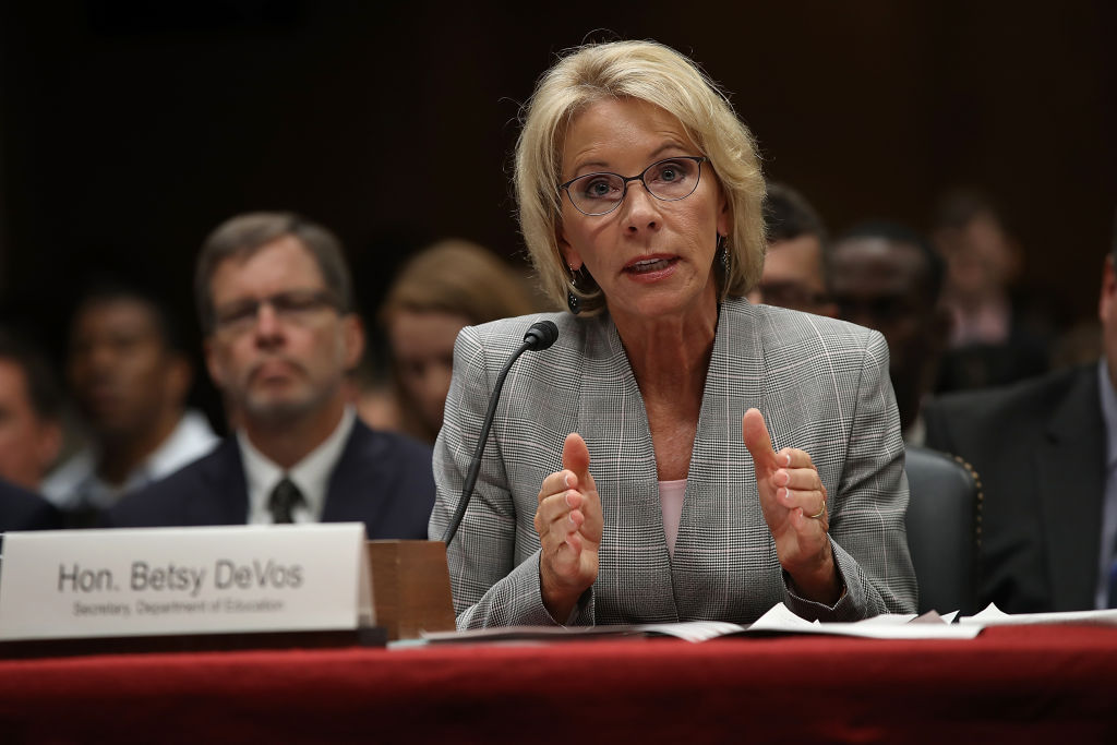 Oregon, 17 other states sue Betsy DeVos for rescinding student protection rules