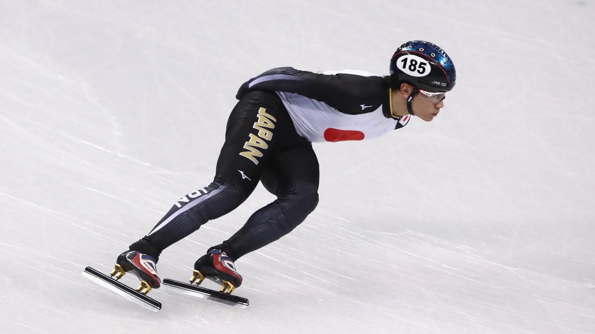 olympic japanese speedskater has positive. Black Bedroom Furniture Sets. Home Design Ideas